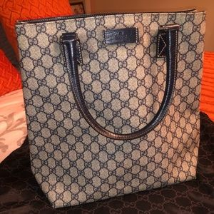 Gucci, tote bags, navy